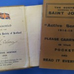 Active service Gospel of St John from 1918, and a facsimile produced in 2014