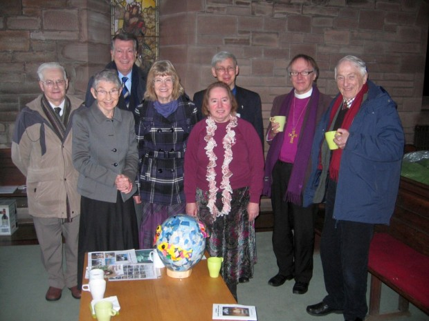 David Brown, Jane Hely, John Kerr, Eileen Condie, Eileen Maitland, Rev Sydney Maitland, Bishop Gregor, Hugh Waterfield.