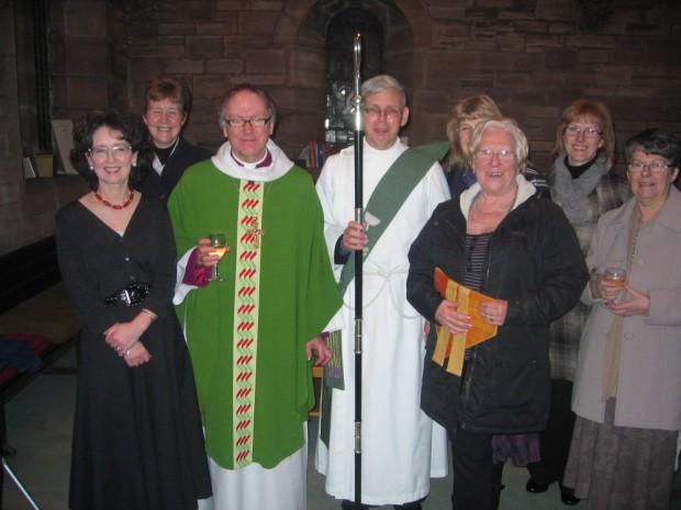 Annette Graham, Elizabeth Burgoyne, Bishop Gregor, Rev Sydney Maitland, Eileen Condie, Brenda McCreadie, Lorraine Payne, Jean Brown.