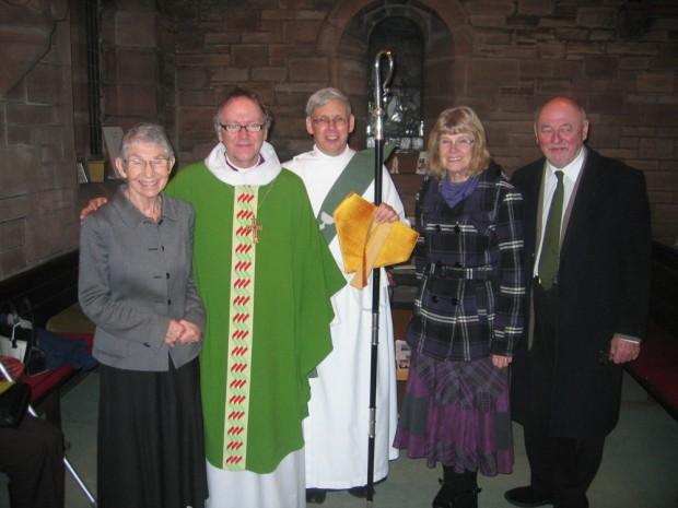 Jane Hely, Bishop Gregor, Rev Sydney Maitland, Eileen Condie, Alex Robertson.