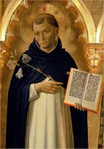 Saint Dominic, portrayed in the Perugia Altarpiece by Fra Angelico