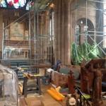Photo of scaffolding in church