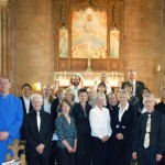 Jordanhill Liturgical Choir with organist Leslie Macleod (front left) and director Alan Tavener (front right).